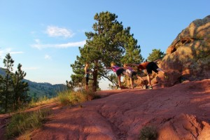 balancing on Red Rocks