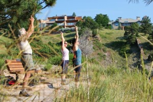 yoga at look out